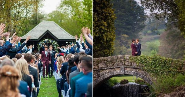 Tom Daley and Dustin have shared beautiful pictures from their Dartmoor wedding (Picture: Andy Mac Photograhpy/Instagram)