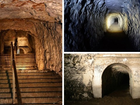 Explore the hidden tunnels that housed hundreds of families during World War 2