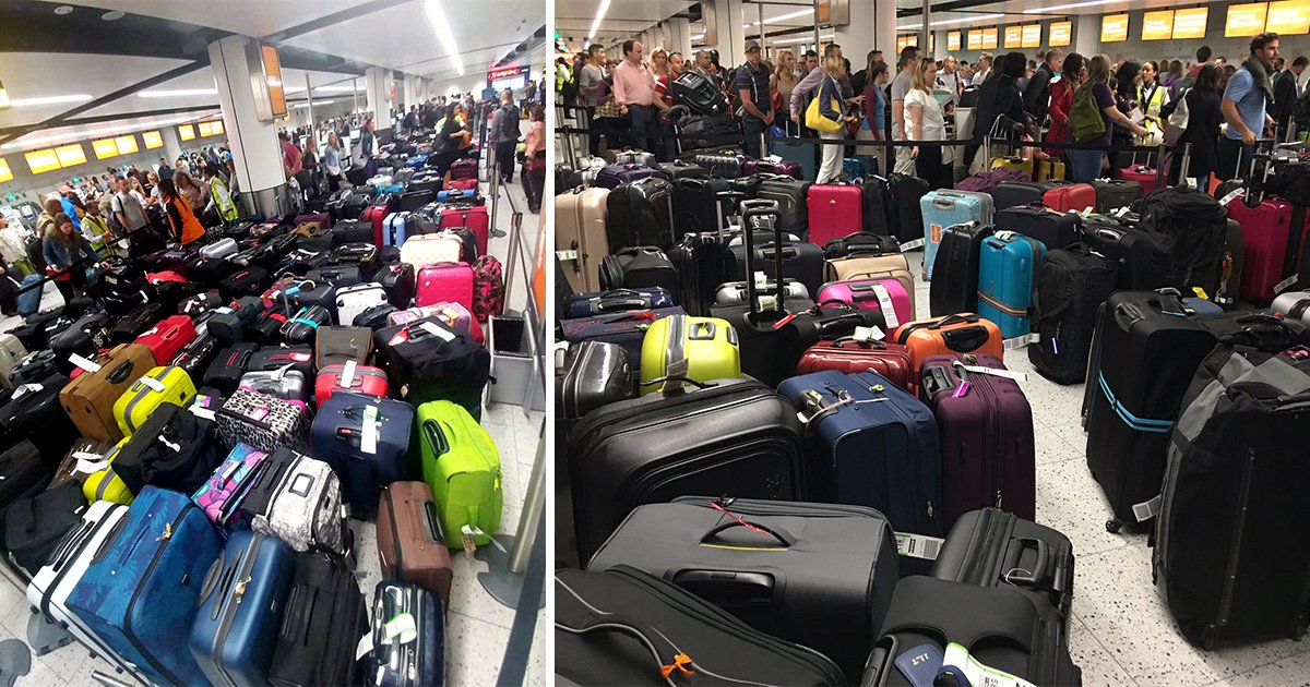 Gatwick passengers told to fly without bags this Bank Holiday weekend due to bag system fault