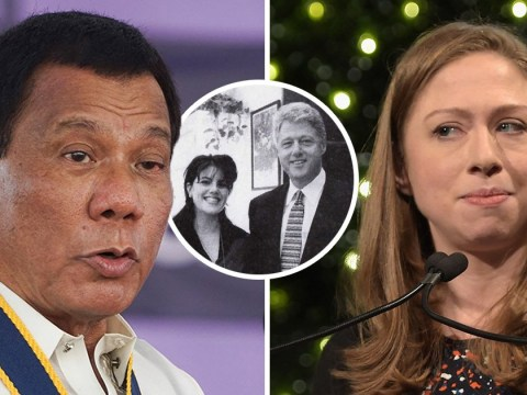 Filipino president asks Chelsea Clinton how she reacted 'when your father was f***ing Monica Lewinsky'