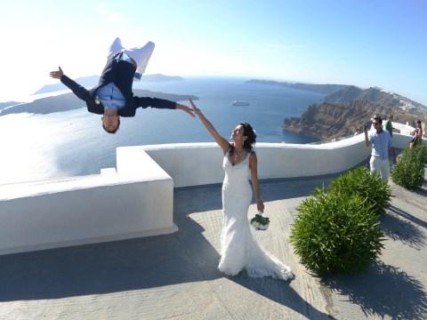 Parkour pro has suitably hair-raising parkour wedding shoot