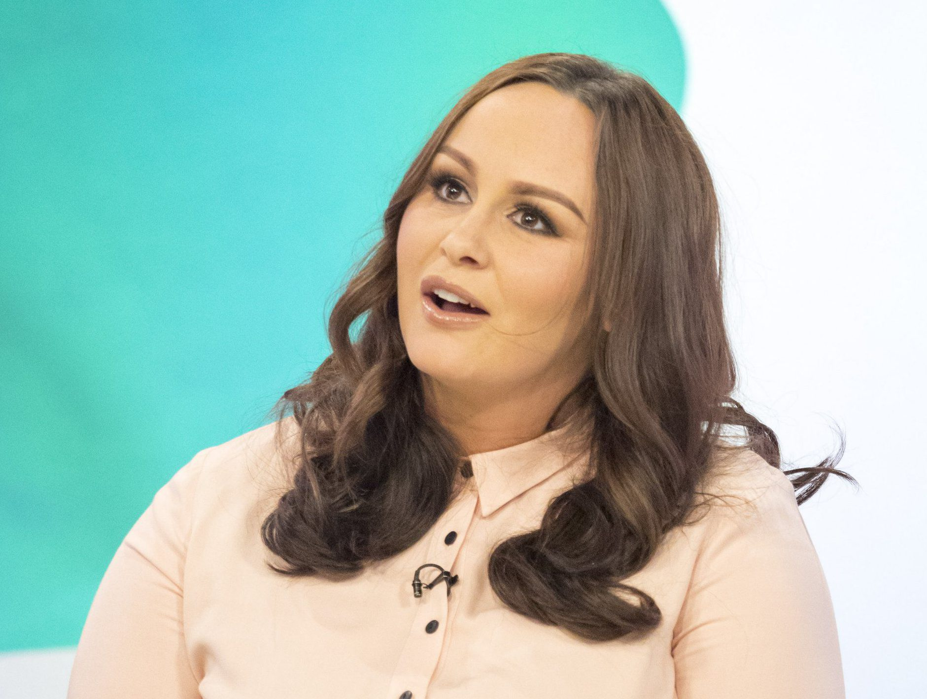 Pregnant Channelle Hayes does a Demi Moore and poses naked for Body Stories week on Loose Women