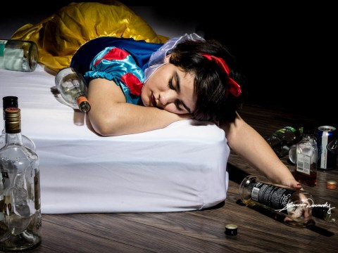 This powerful photo series shows Disney princesses dealing with harrowing real life struggles