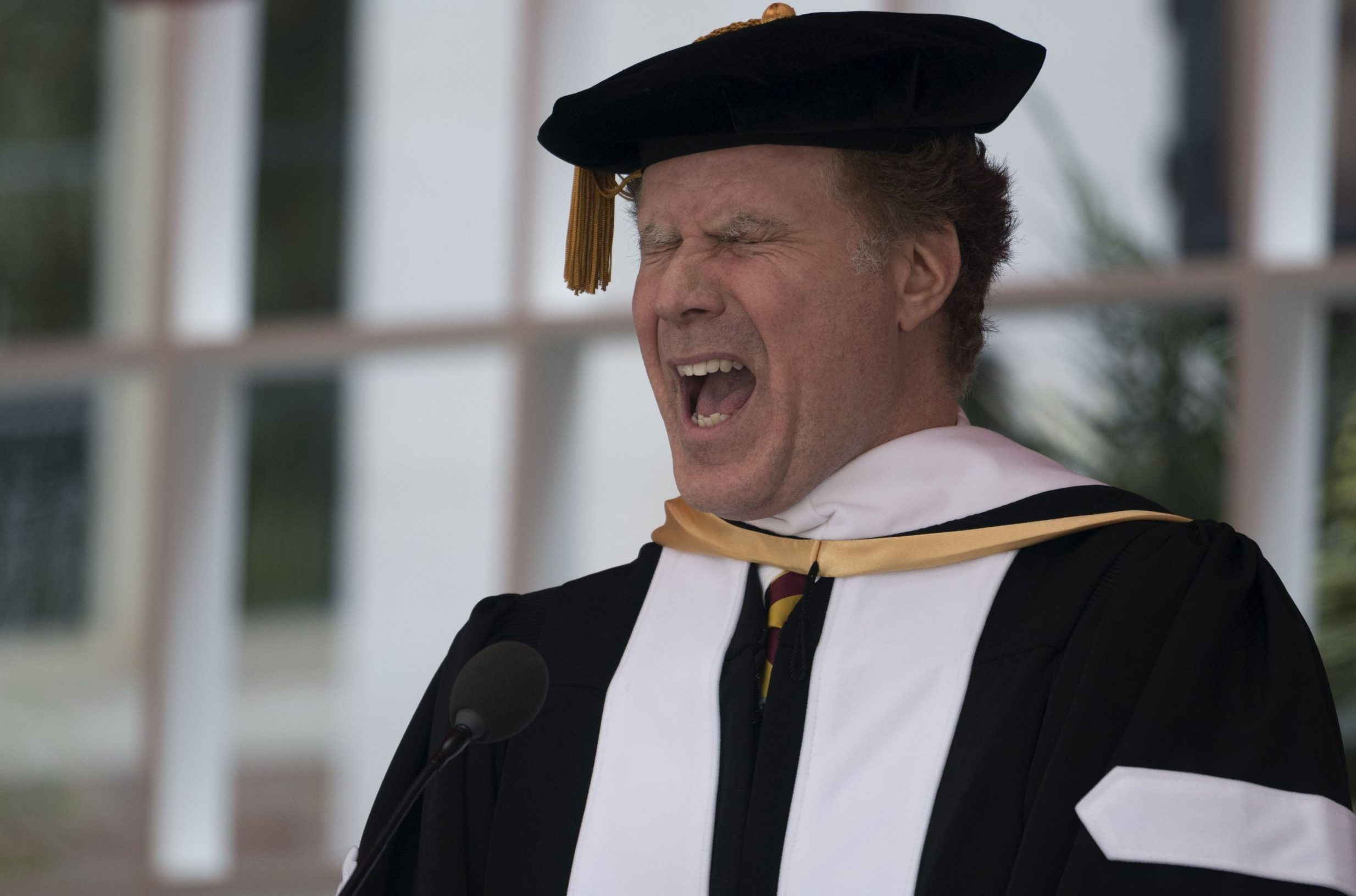 Will Ferrell gave a hilarious graduation speech and belted out Whitney Houston