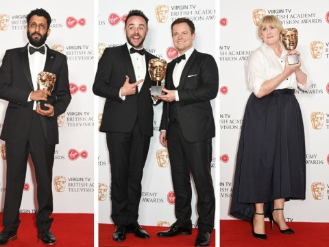 TV Baftas 2017: Sarah Lancashire scoops top prize as Benedict Cumberbatch and Great British Bake Off miss out
