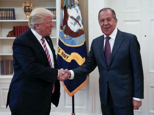 Donald Trump and Sergey Lavrov