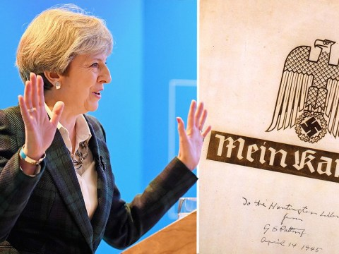 The new Tory 'strong and stable' slogan appeared in Hitler's Mein Kampf