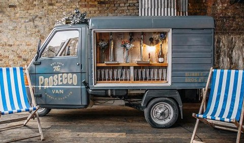 Celebrate! This prosecco van is driving around London