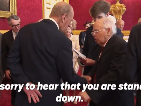 Prince Philip responded in classic fashion when someone said 'sorry you're standing down'