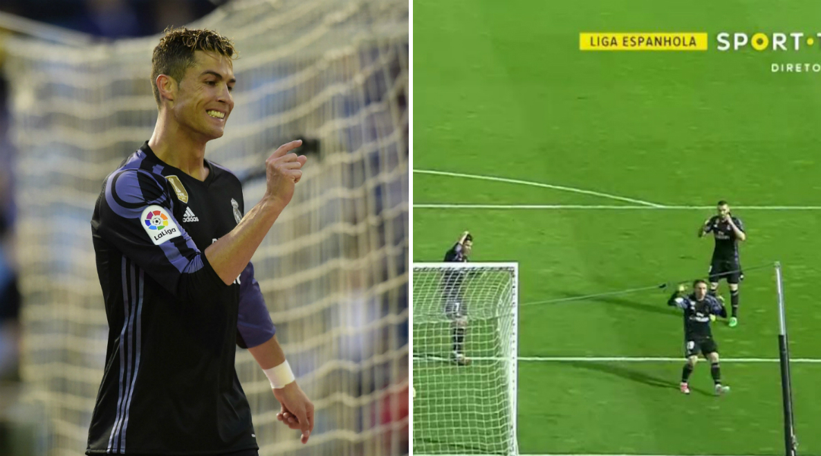 Cristiano Ronaldo just missed the easiest chance of his entire career