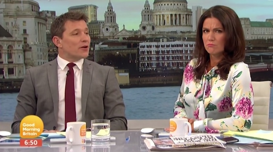 Good Morning Britain: Susanna Reid tells off Ben Shephard for 'objectifying' Andi Peters