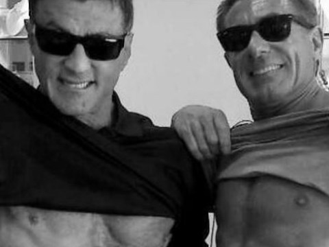 Sylvester Stallone flaunts his six pack in our faces (and yes, he is 70 years old)