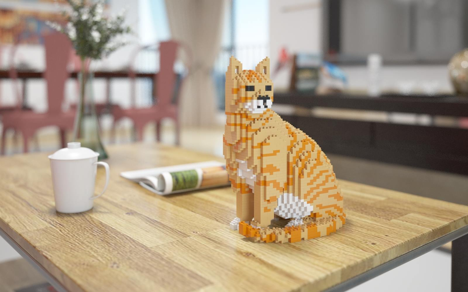 These incredible 'Lego' cats are a decent replacement for the real thing