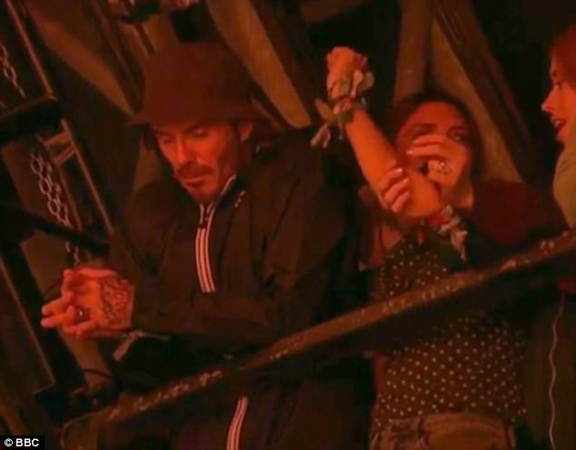 Video shows tired David Beckham struggling to keep up with festivalgoers during Ed Sheeran's Glastonbury set