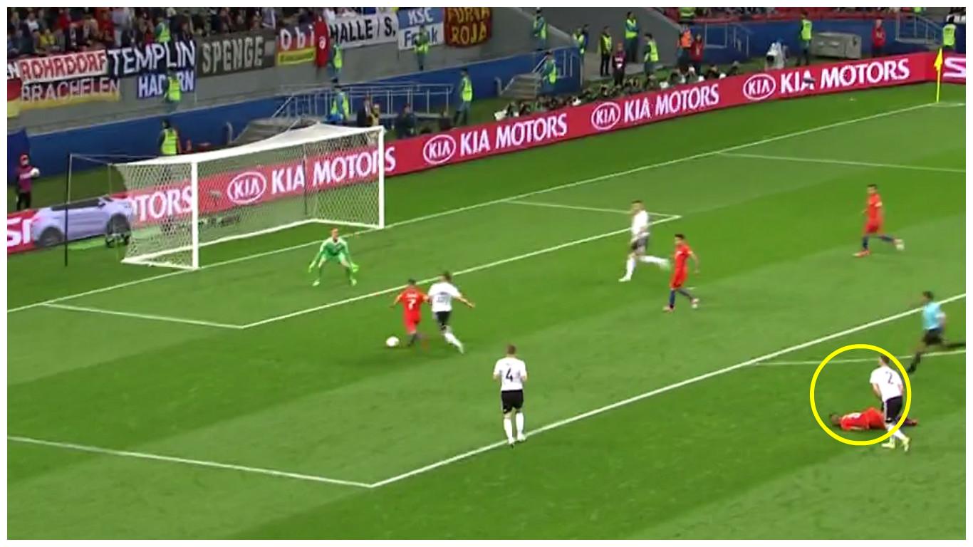 Arsenal's Alexis Sanchez scores for Chile after Shkodran Mustafi error – video
