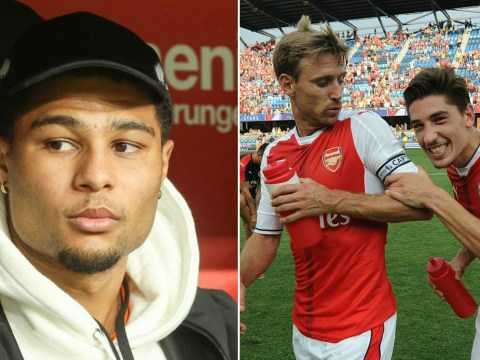 Hector Bellerin and Nacho Monreal caught digging out Tony Pulis over Serge Gnabry's move to Bayern Munich