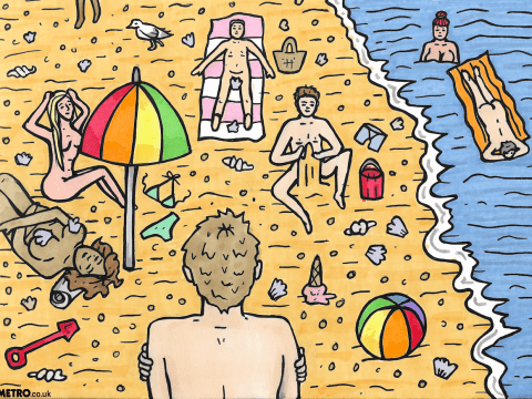 I went to a naturist beach for the first time and this is what it was like
