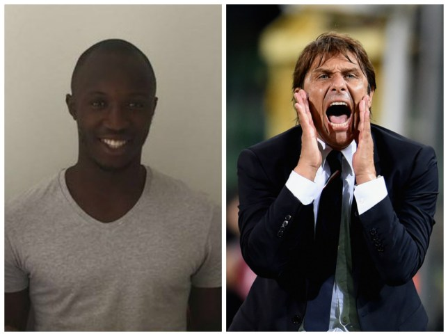 Conte (left) has signed a three-year deal with the Israel club. Conte (right) is still at Chelsea (Pictures: Beitar Jerusalem/Getty Images)