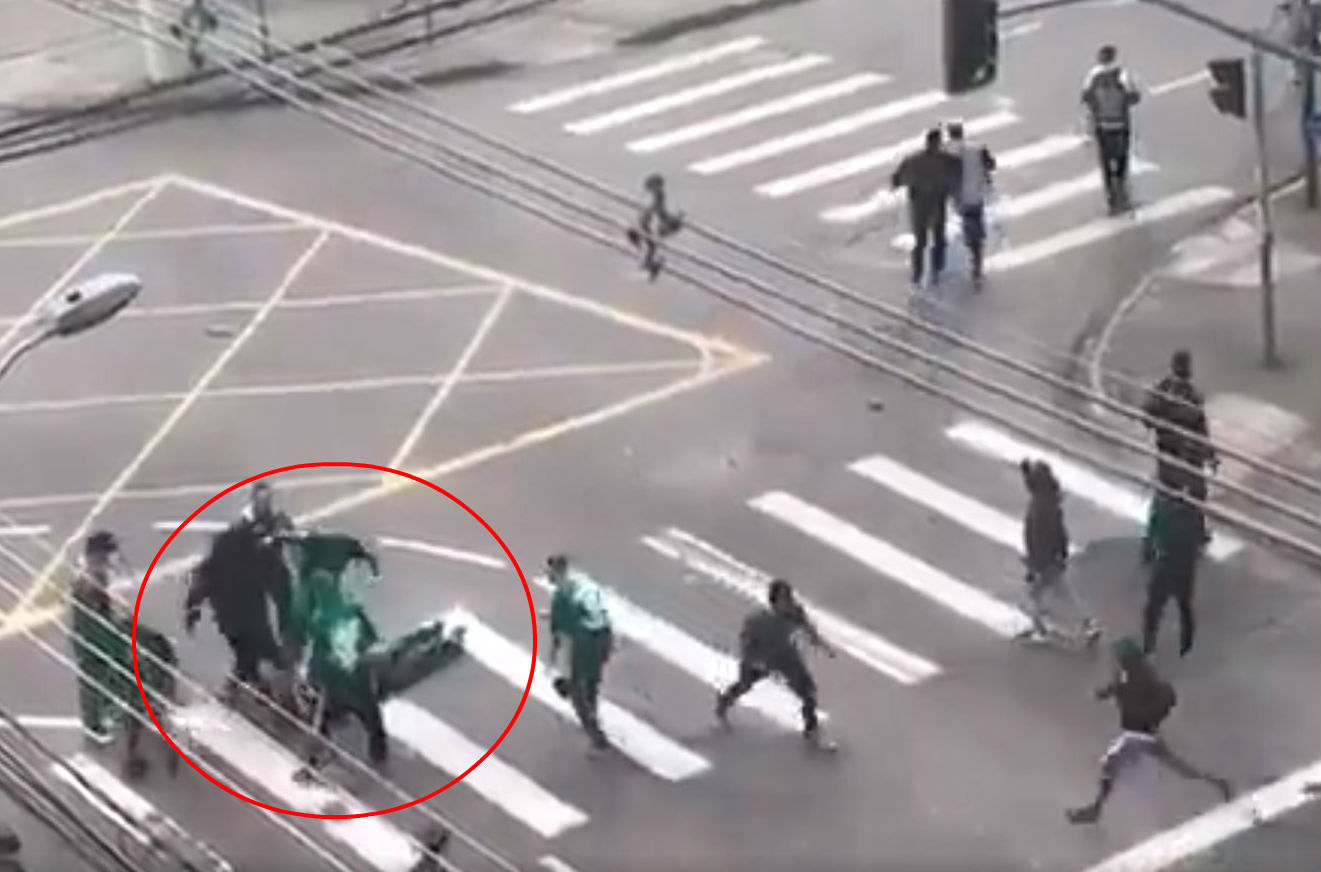 Clubs in Brazil unite to denounce hooligans as football supporter is savagely beaten by rival fans
