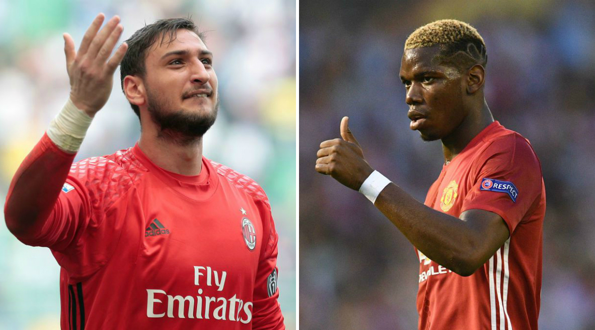Paul Pogba sends message to Manchester United target Gianluigi Donnarumma