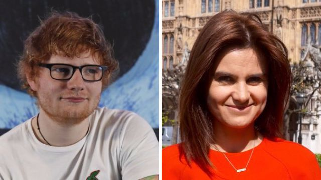 Ed Sheeran, Helen Mirren and Stephen Fry appear in video paying tribute to murdered MP Jo Cox