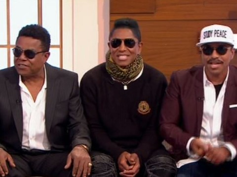'Sunglasses indoors? Rude!' Viewers baffled the Jacksons wore shades for TV appearance as they confess they've never met Janet's son
