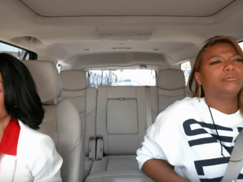 Jada Pinkett Smith and Queen Latifah nearly turn Carpool Karaoke into 'crash pool karaoke'