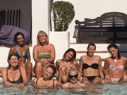 Loose Women ladies seen smuggling 'contraband' fruit into Ibiza fitness boot camp