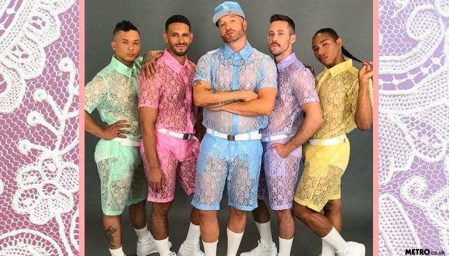 lace shorts men