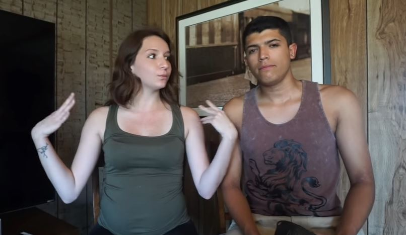 Monalisa Perez and Pedro Ruiz sitting next to each other in youtube video