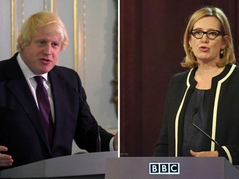 Amber Rudd 'caught in echo chamber of left-wing nonsense', says Boris