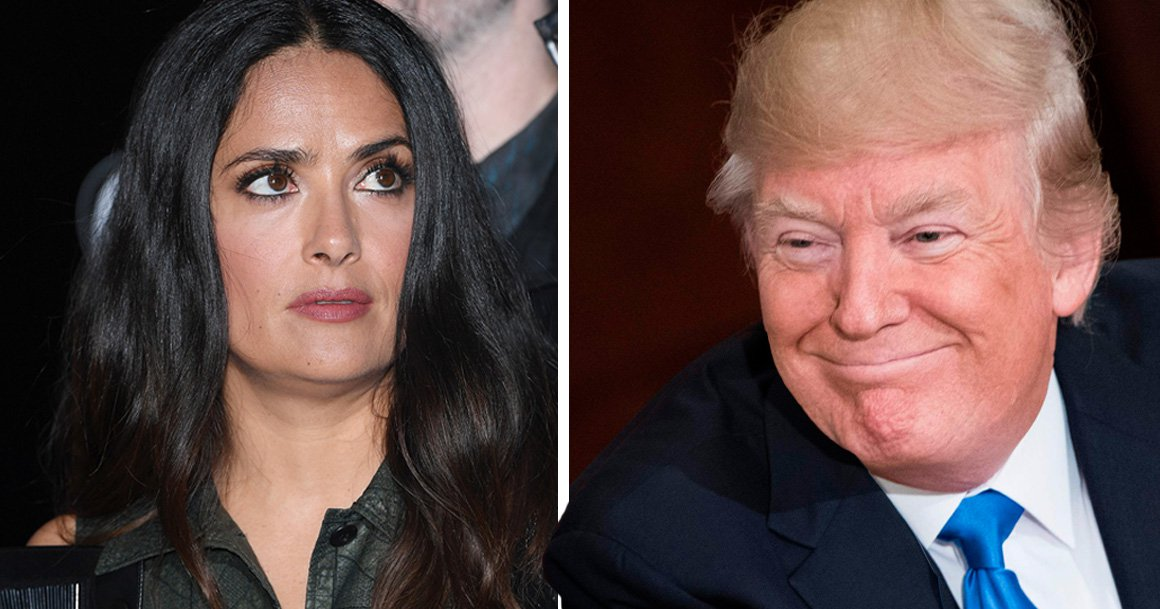 Salma Hayek says Donald Trump tried to make her cheat on her boyfriend with him