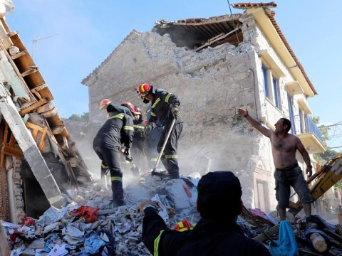 Devastating earthquake off the coast of Greece and Turkey leaves one dead and 10 injured