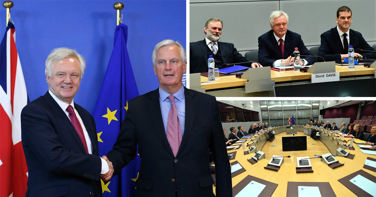 Brexit talks finally begin in Brussels as David Davis seeks 'new, deep and special partnership' with EU