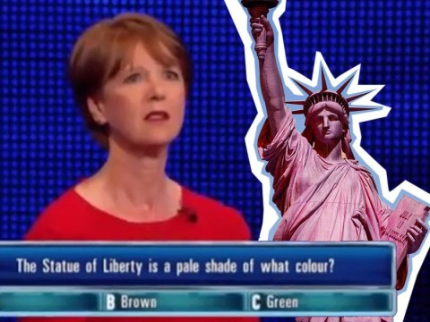 Contestant on The Chase says the Statue Of Liberty is pink and people think she's taking liberties