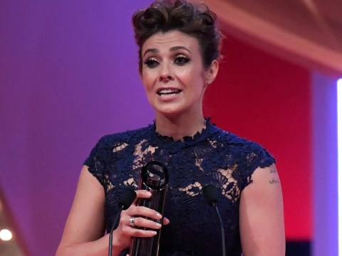 Kym Marsh dedicates her British Soap Award to late son Archie in emotional speech