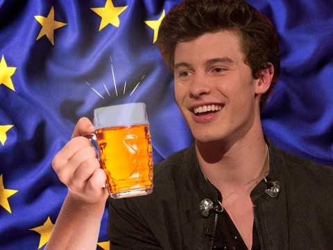 Shawn Mendes is knocking back the booze while he can in the UK