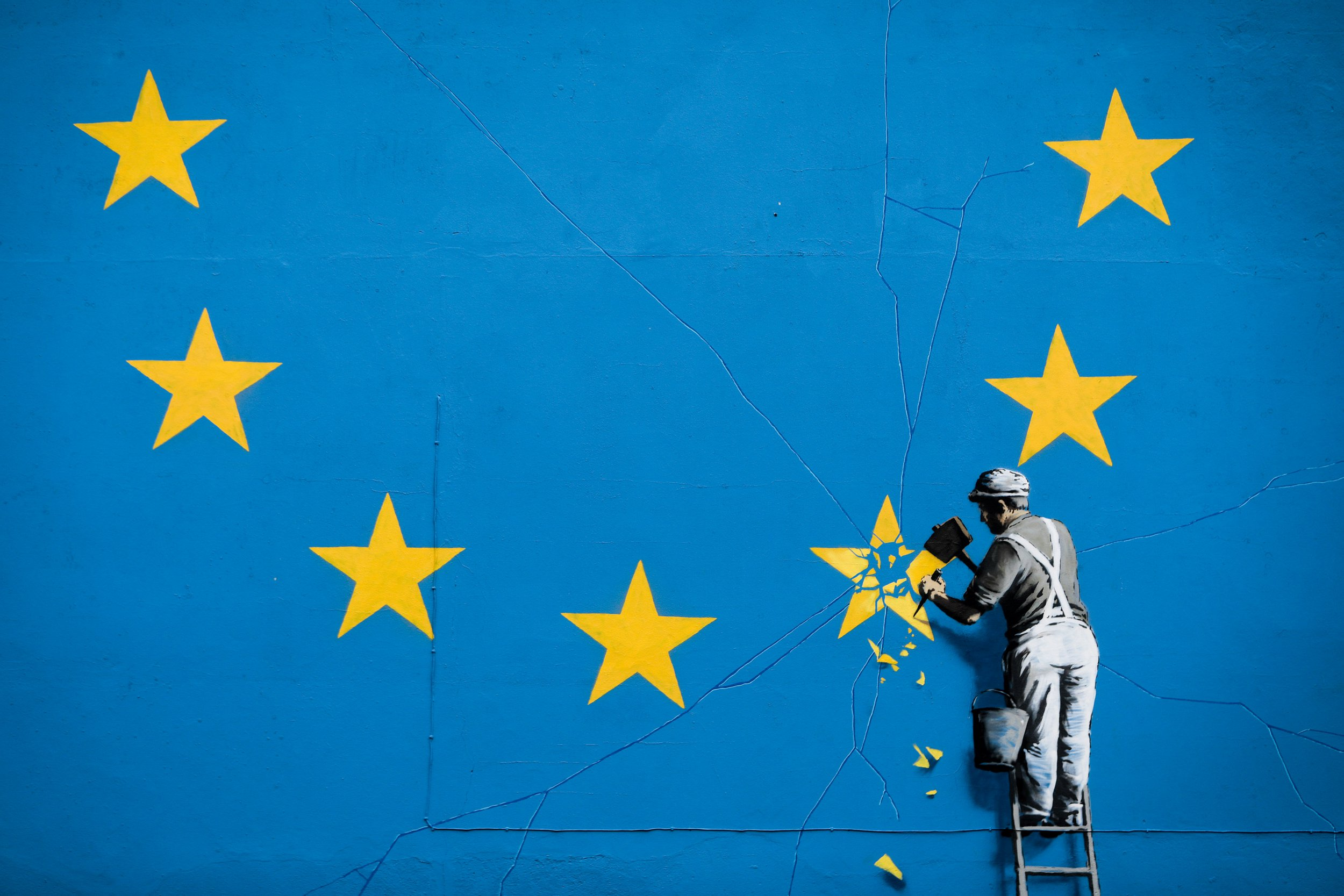 Who is Banksy and what are his most famous works of art?