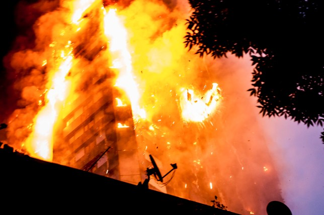 The blaze engulfed the 27-storey building with 200 firefighters attending the scene. There were reports of people trapped in the building (Picture: Guilhem Baker/LNP)