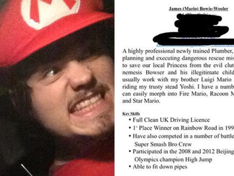Plumber accidentally applies for work with a Super Mario themed CV