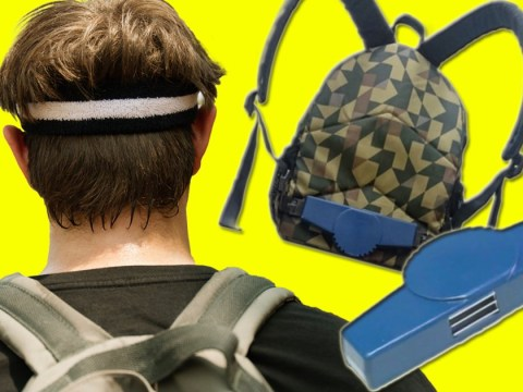 This invention stops your backpack giving you back sweat