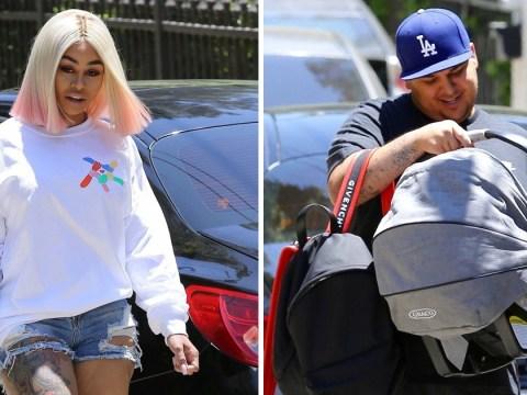 Blac Chyna and Rob Kardashian reunite at Disneyland for Father's Day despite split