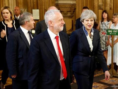 The Queen's Speech was an admission of defeat for May – while Corbyn looked like the cat that got the cream