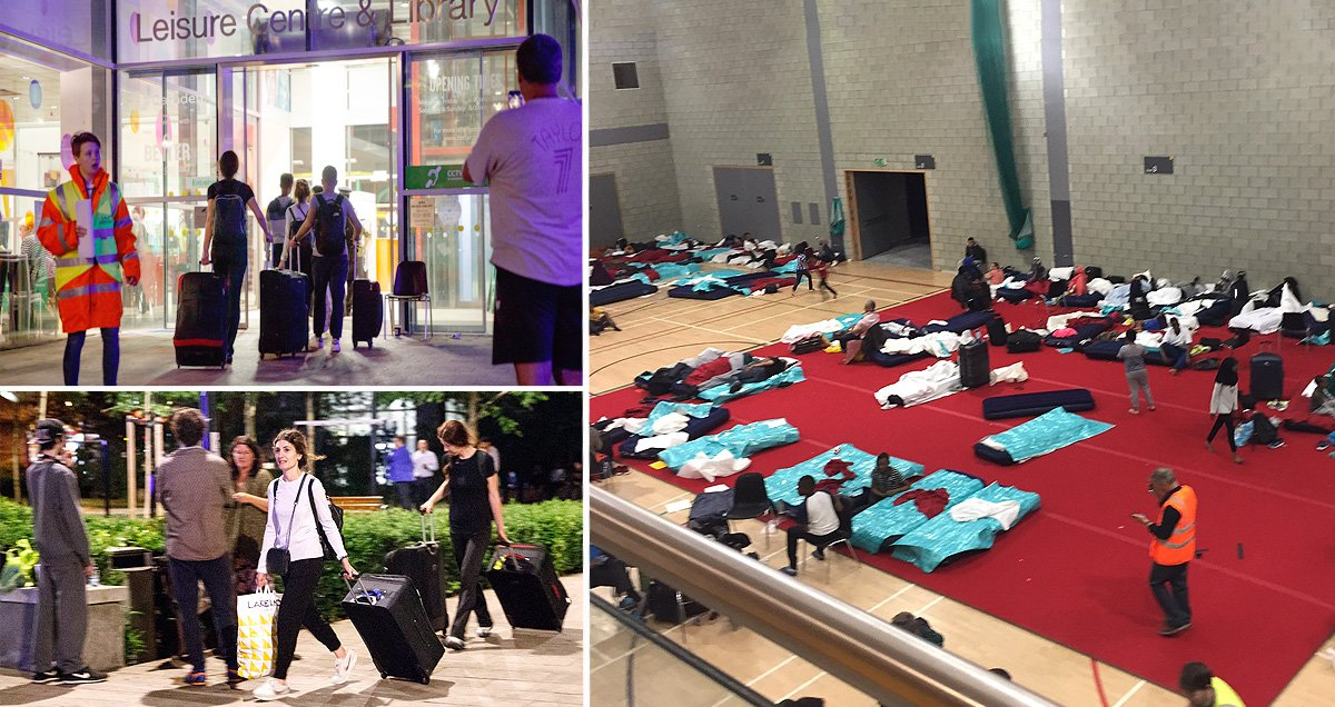 Inside leisure centre where Camden residents are staying after council estate evacuation