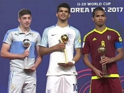 Dominic Solanke follows Lionel Messi and Paul Pogba in winning Golden Ball at U20 World Cup
