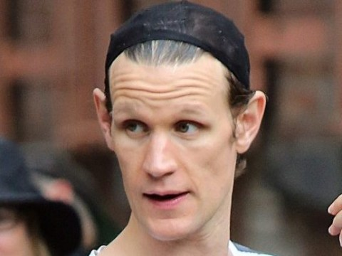 Matt Smith gets ready for his wig as he tackles controversial photographer Mapplethorpe in new biopic