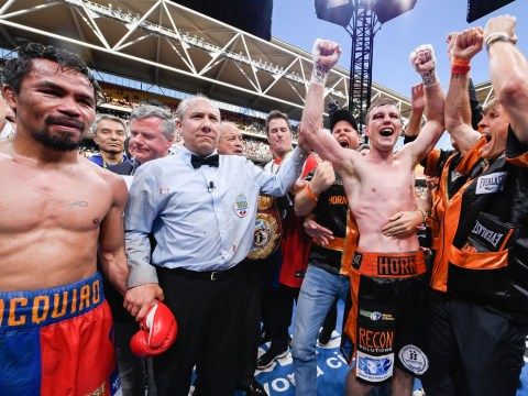 Outsider Jeff Horn shocks Manny Pacquiao with controversial win in WBO world title fight