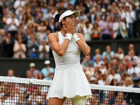 Garbine Muguruza breaks down in tears after winning first Wimbledon title