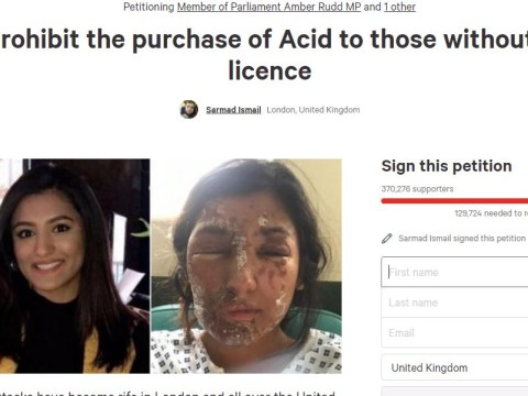 Sign this petition to 'end unrestricted sale of acid' to prevent future attacks