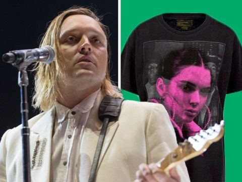 Arcade Fire are selling their own version of Kendall and Kylie Jenner selfie t-shirts